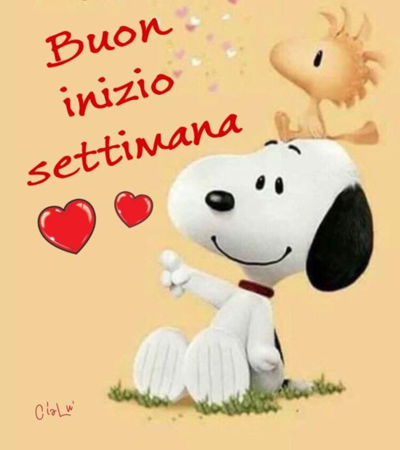 Buon Inizio Settimana da Snoopy