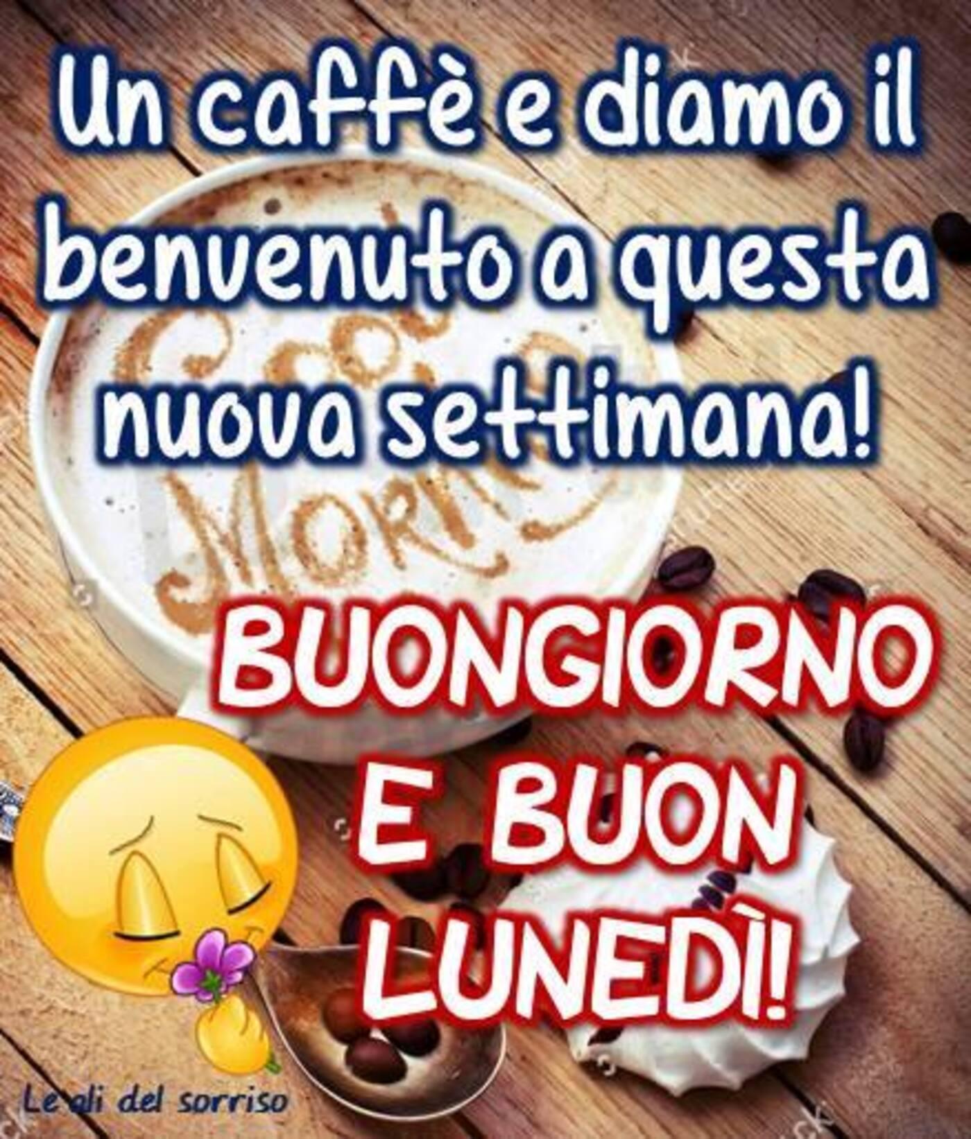 Un caffè e diamo il benvenuto a questa nuova settimana! Buongiorno e Buon Lunedì
