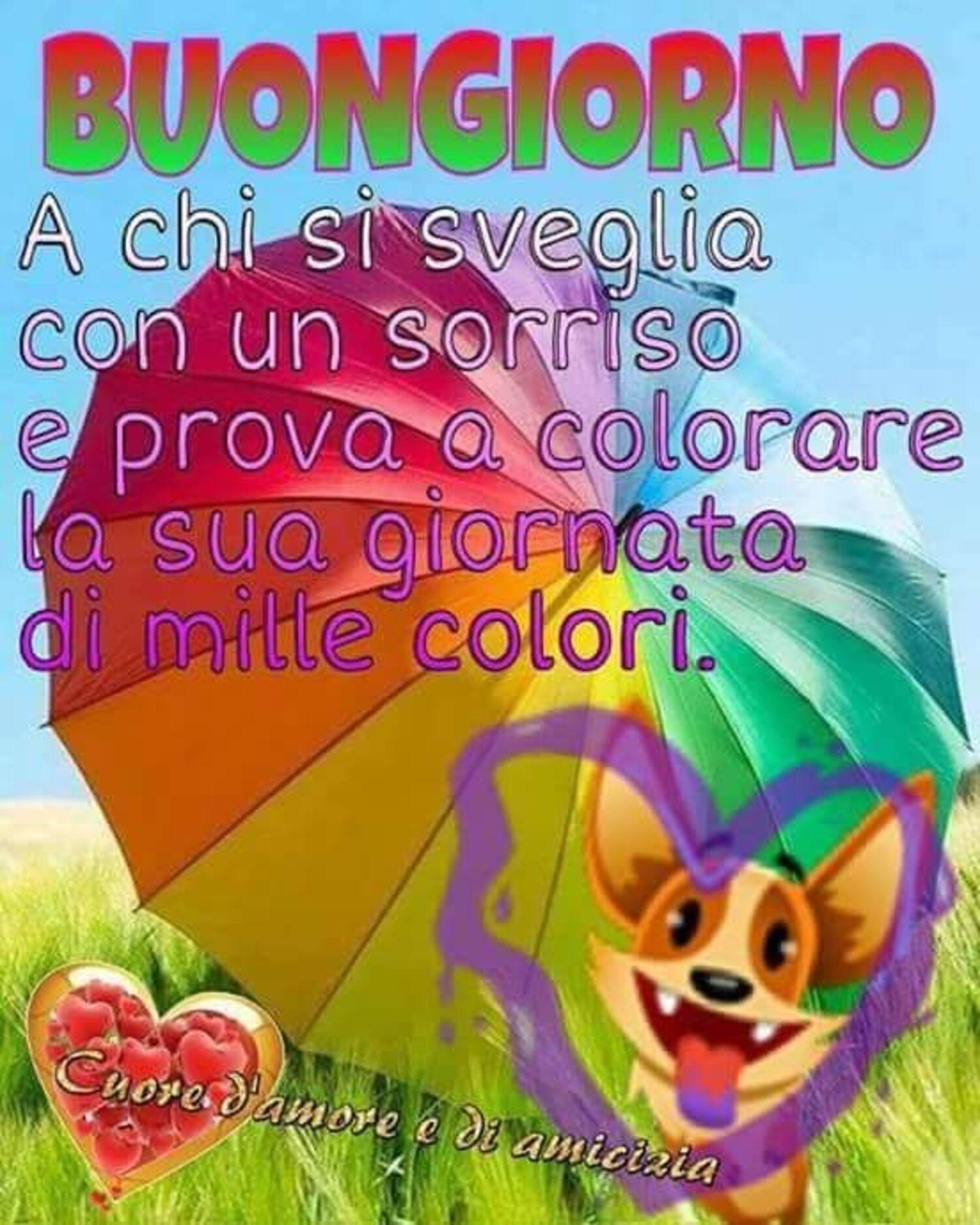 Buongiorno a chi si sveglia con un sorriso e prova a colorare la sua giornata con mille colori.