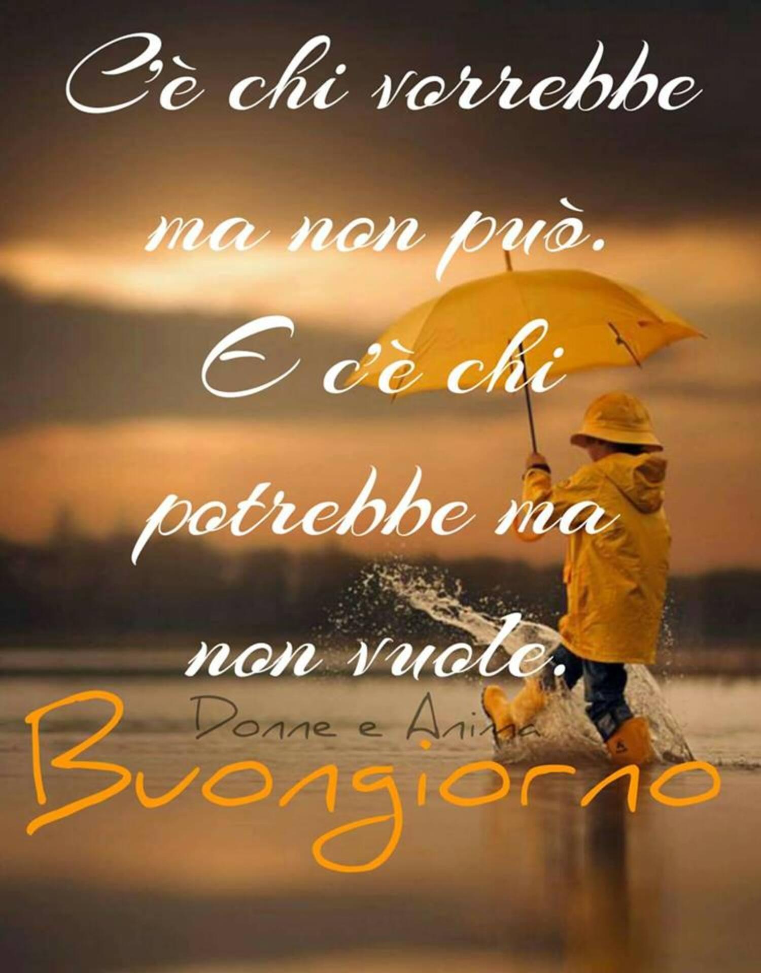 Buongiorno con la pioggia