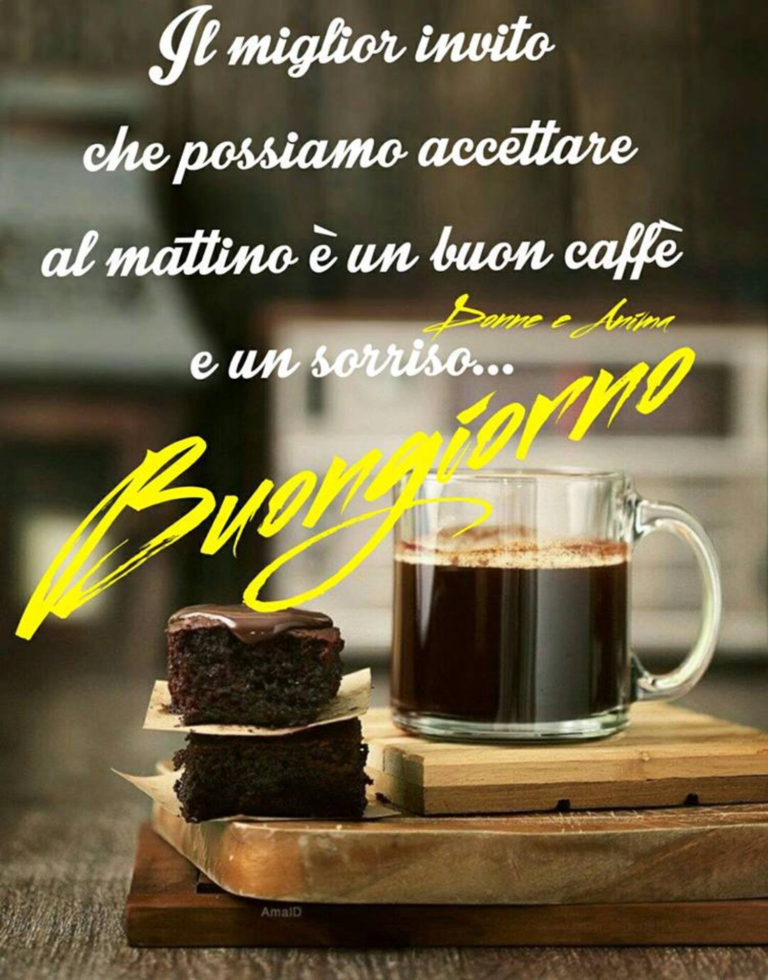 Il miglior invito che possiamo accettare al mattino, è un buon caffè e un sorriso... Buongiorno