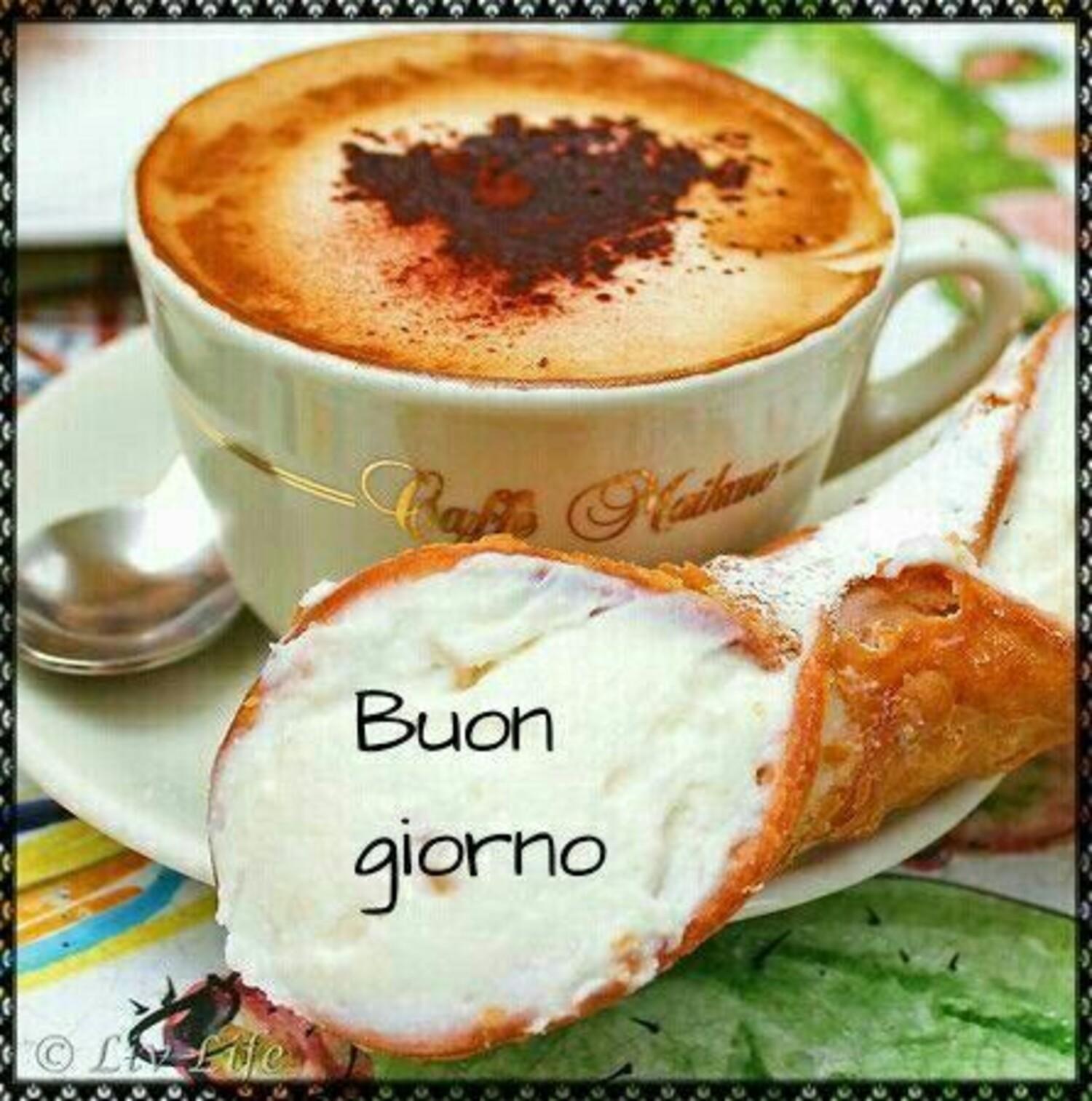 Buongiorno cappuccino e cannolo