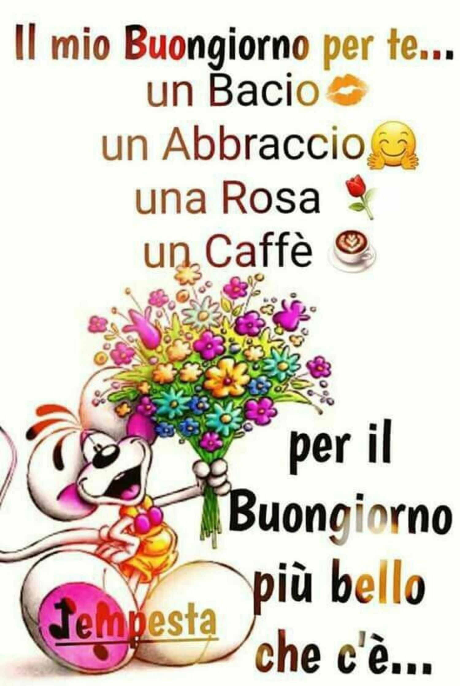 """""""Il mio Buongiorno per te... un abbraccio, una rosa, un caffè,..."""" Diddle"""