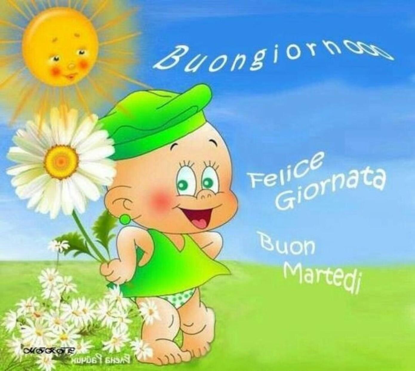 Buongiorno Felice Giornata Buon Martedì
