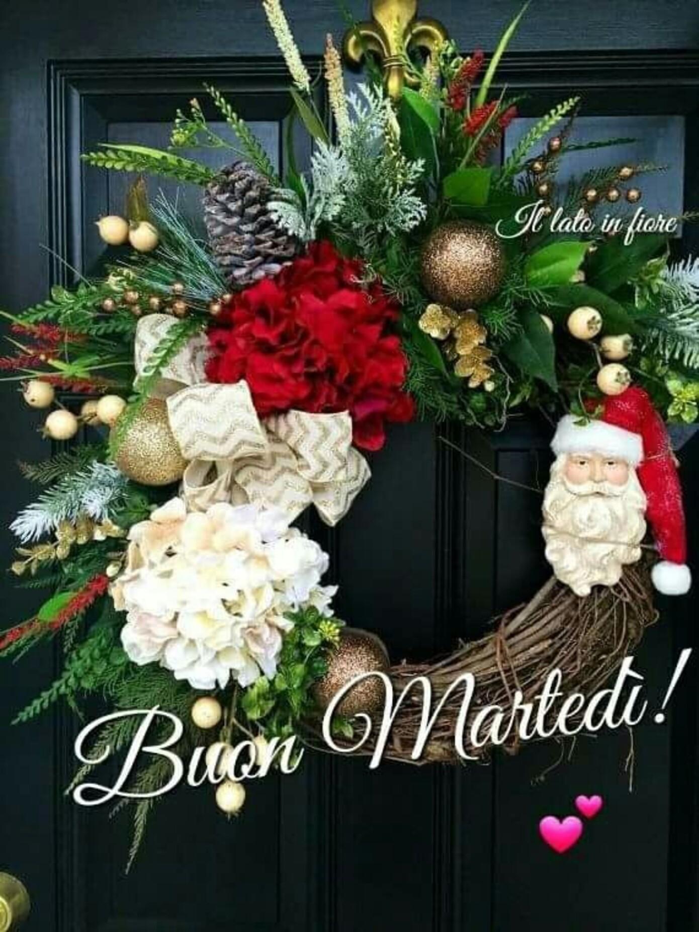 Buon Martedì ghirlanda natalizia