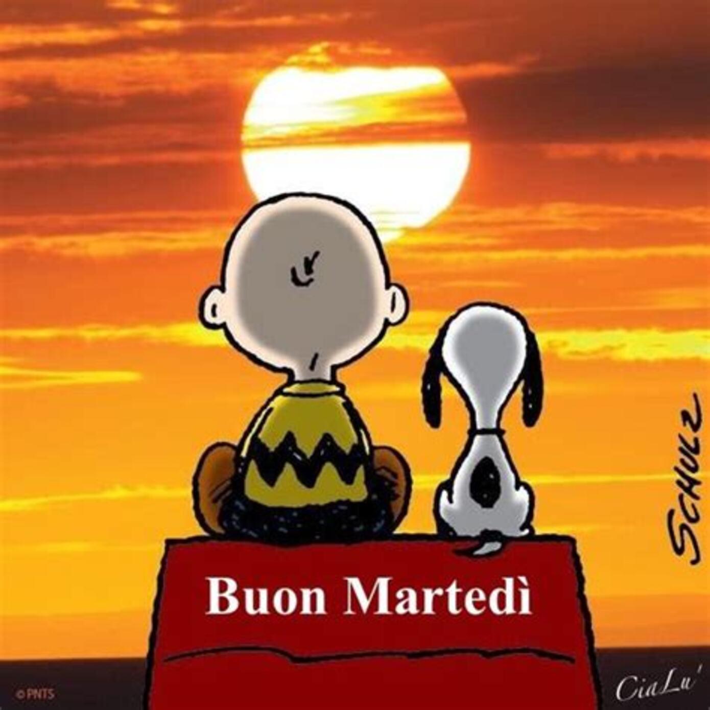 Buon Martedì da Snoopy e Charlie Brown
