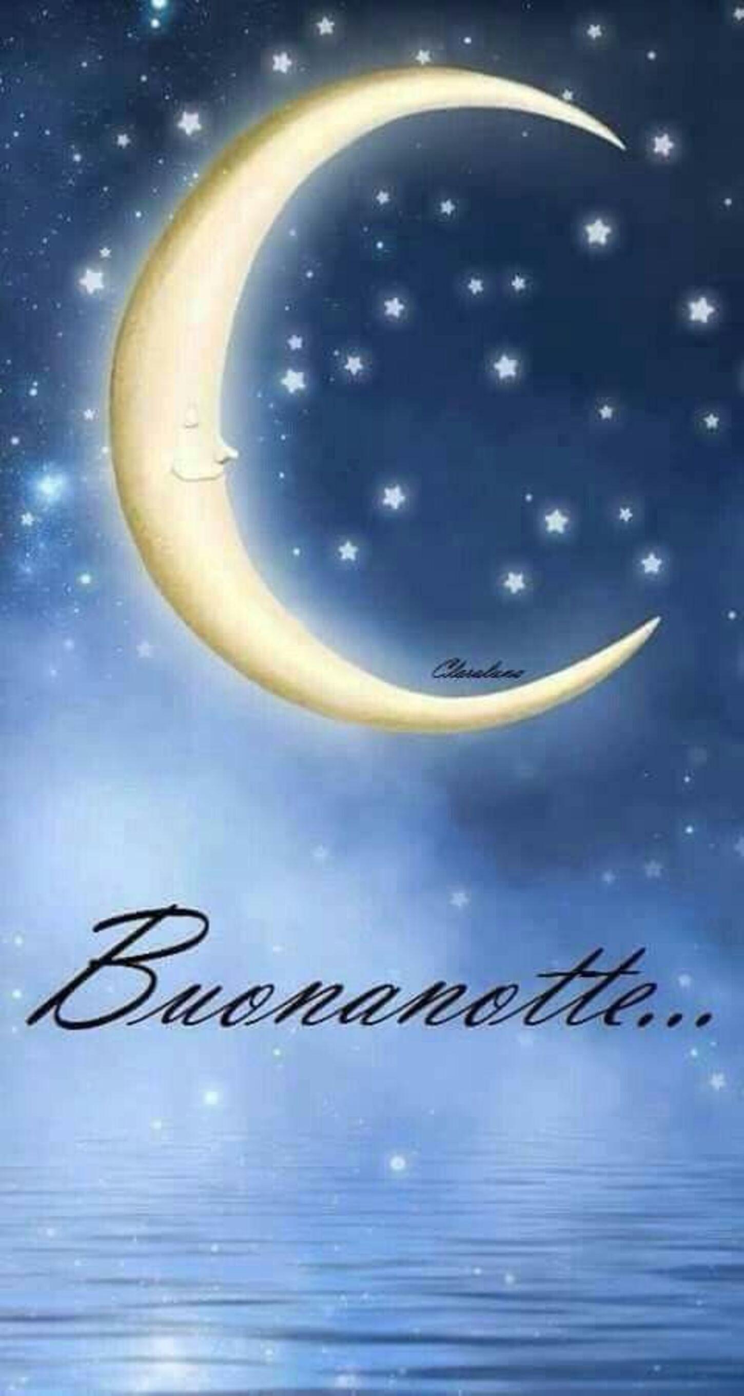 Buonanotte immagini con la Luna