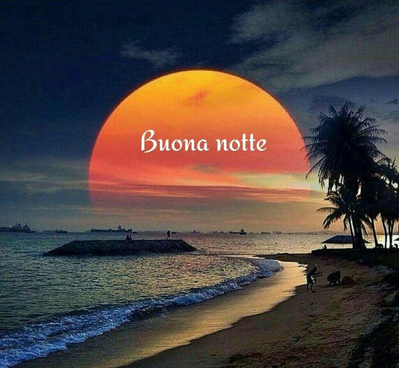 Buona notte foto con paesaggio