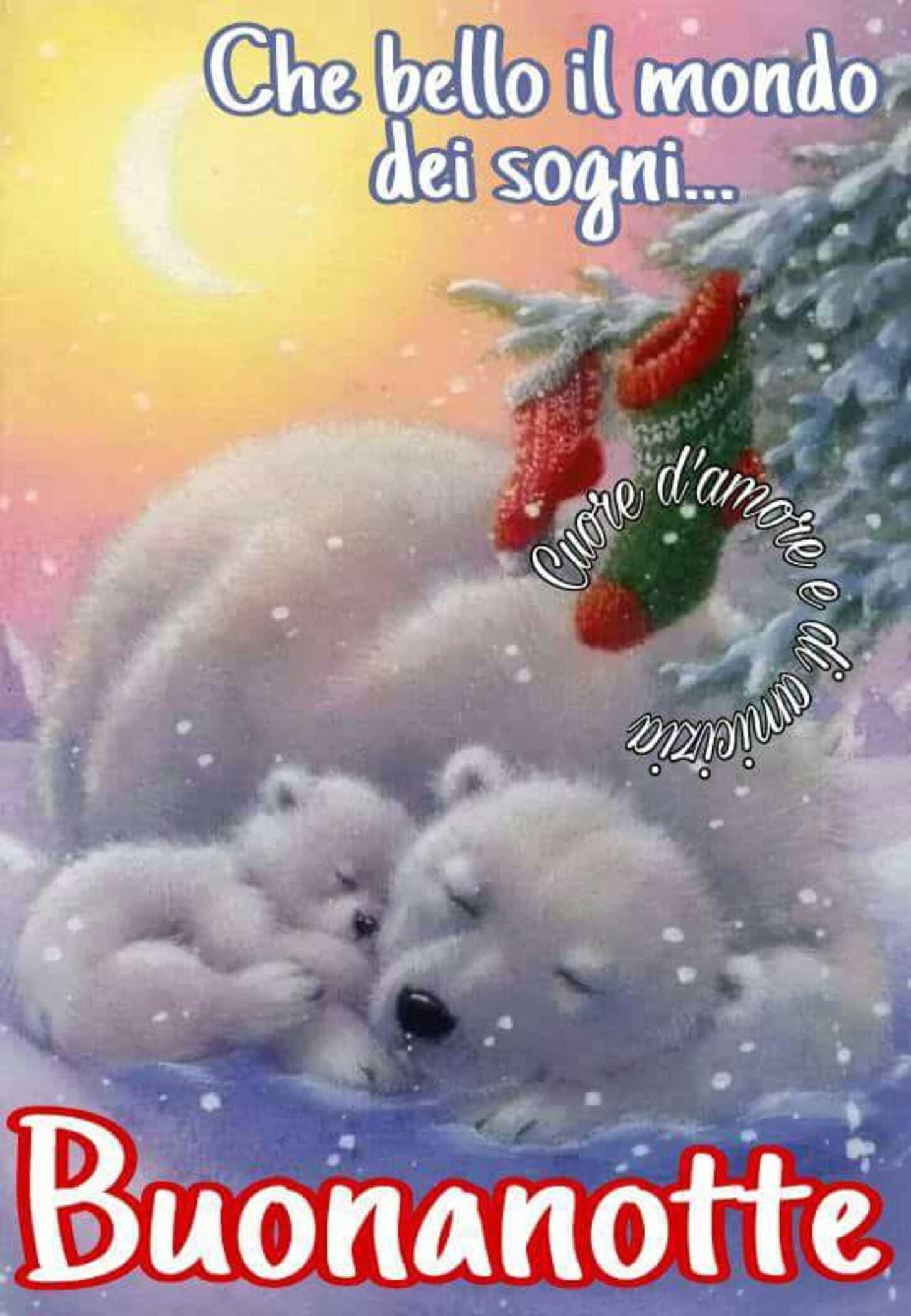 Che bello il mondo dei sogni... Buonanotte immagini di Natale