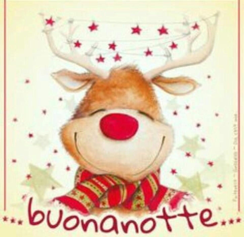 ...buonanotte... con la renna di Natale