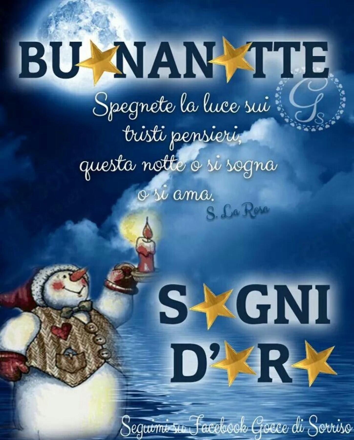 Buonanotte e Sogni d'Oro natalizio