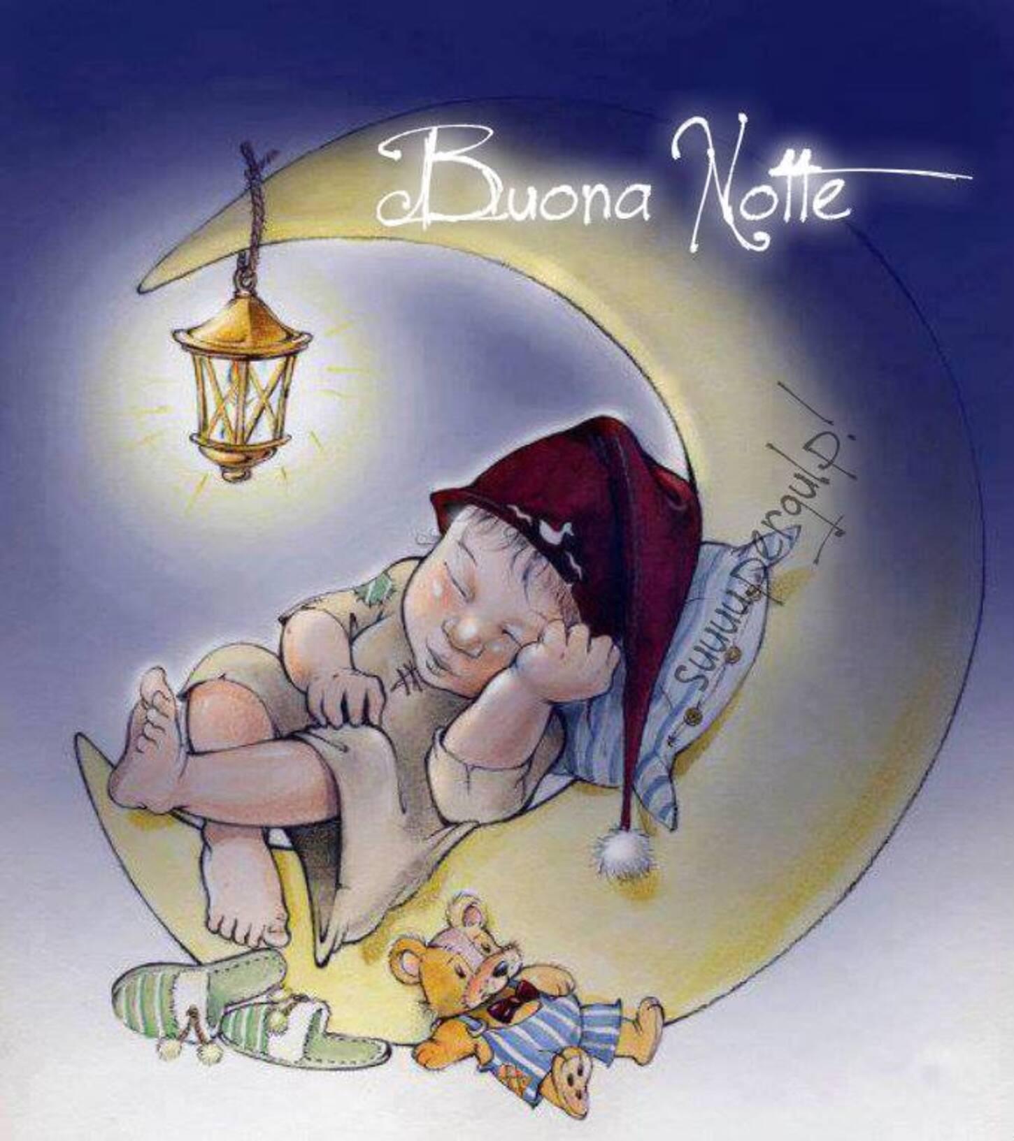 Buona Notte immagini con i bambini