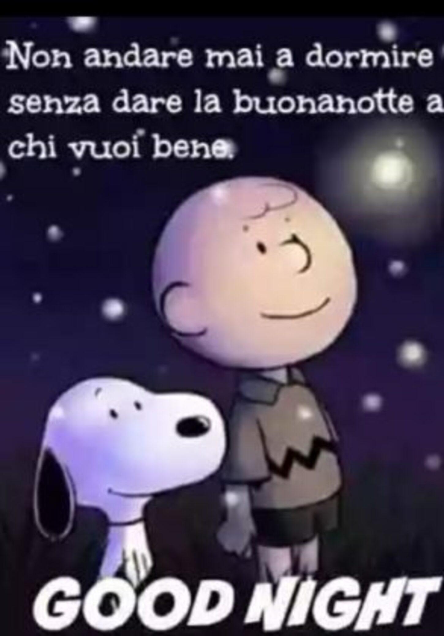 Non andare mai a dormire senza dare la Buonanotte a chi vuoi bene, Snoopy