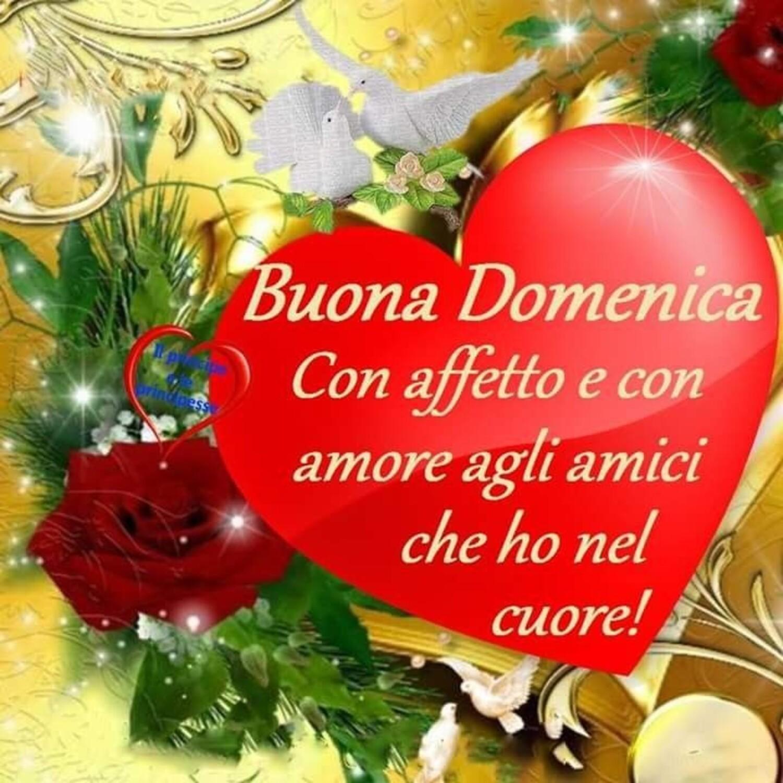 Buona Domenica con affetto e con amore gli amici che ho nel cuore!