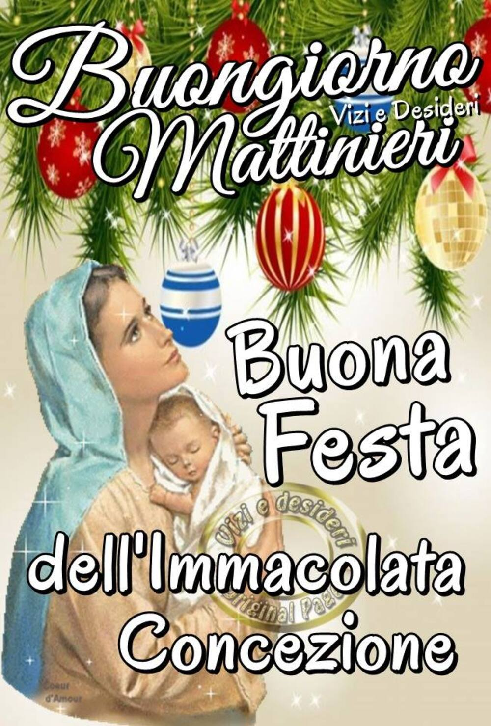 Buongiorno Mattinieri, Buona Festa dell'Immacolata Concezione