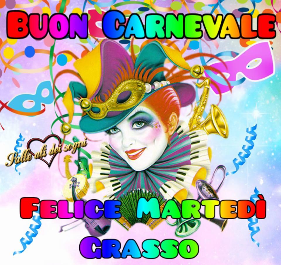 Buon Carnevale felice Martedì grasso