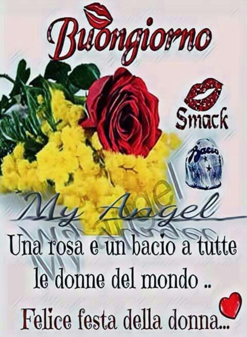 Buongiorno una rosa e un bacio a tutte le donne del mondo...Felice festa della donna