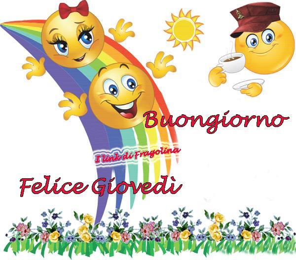 I Link di Fragolina - Buongiorno e Buon Giovedì arcobaleno
