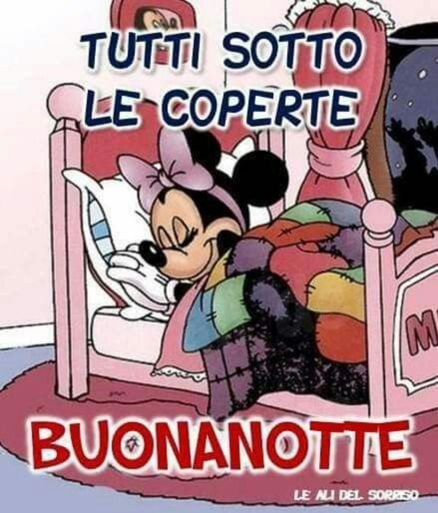 """""""Tutti sotto le coperte... BUONANOTTE"""" - da Minnie"""
