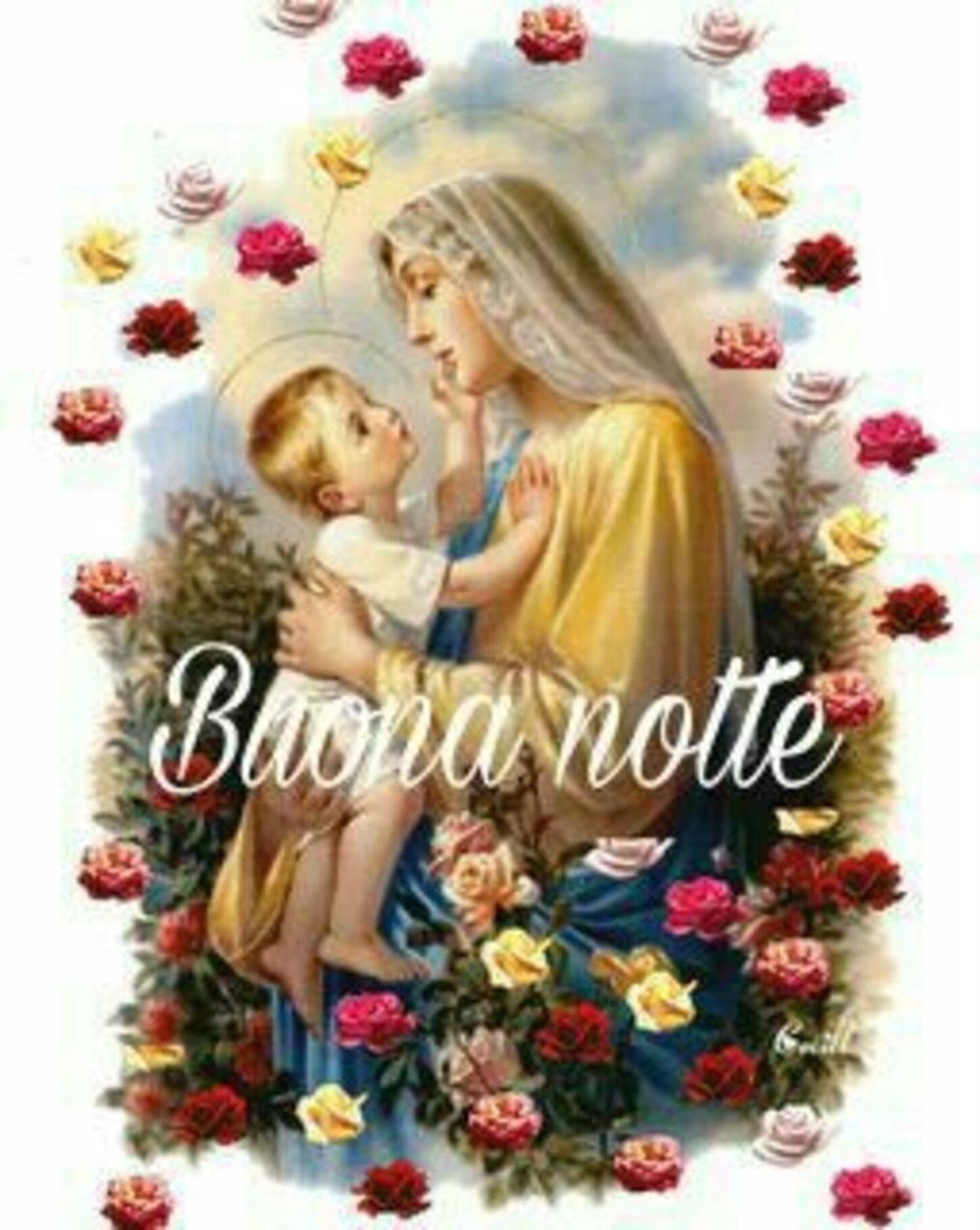 Buonanotte Madonnina - immagini religiose