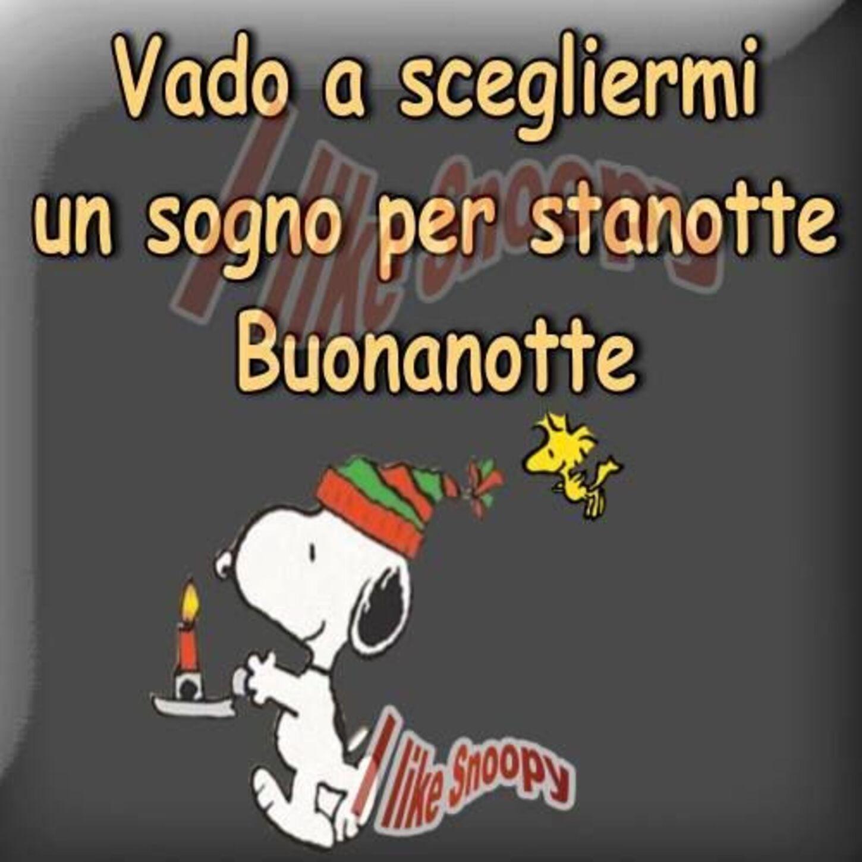 Buonanotte immagini natalizie con Snoopy
