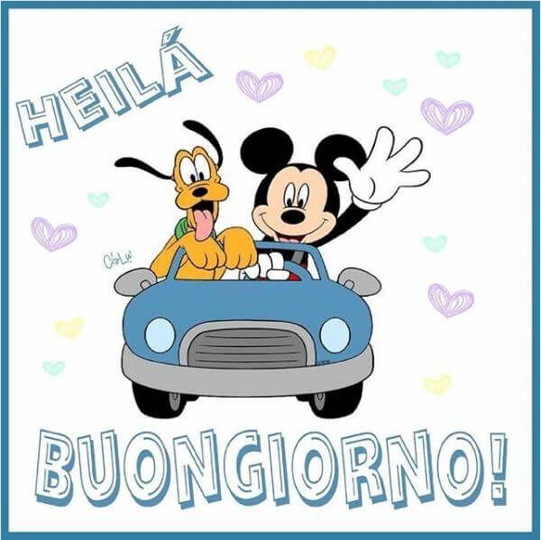 HEILA' BUONGIORNO! - Topolino e Pluto