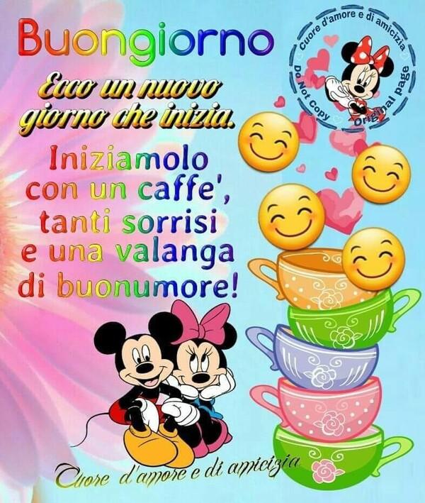 Ecco un nuovo giorno che inizia. Iniziamo con un caffè, tanti sorrisi e una valanga di buonumore!