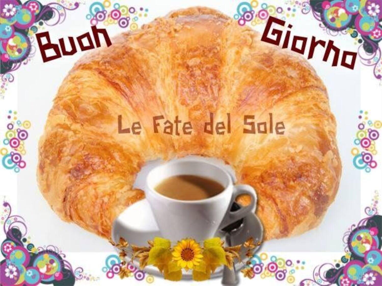 Buon Giorno con caffè e cornetto