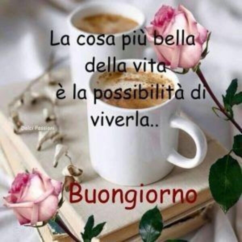 La cosa più bella della vita è la possibilità di viverla... Buongiorno