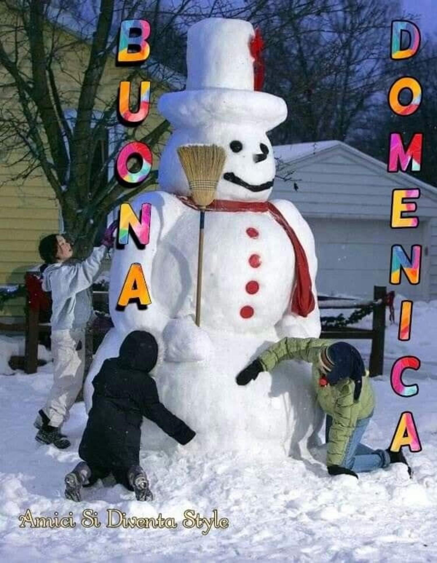 Buona Domenica immagini invernali
