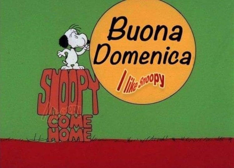 Buondì e Buona Domenica da Snoopy