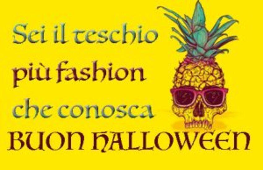 Sei il teschio più fashion che conosca. Buon Halloween