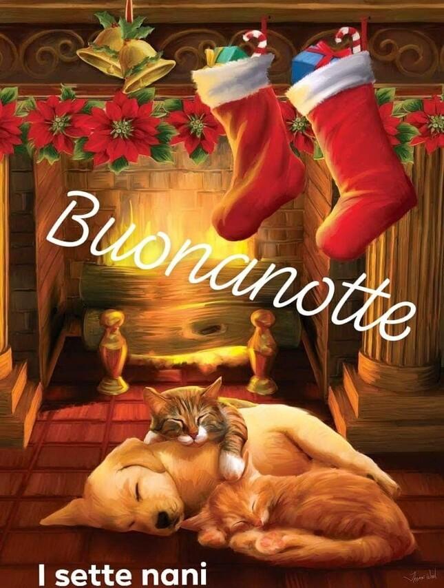 Buona Notte con gli addobbi natalizi