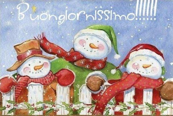 Buongiornissimo! - pupazzi di neve