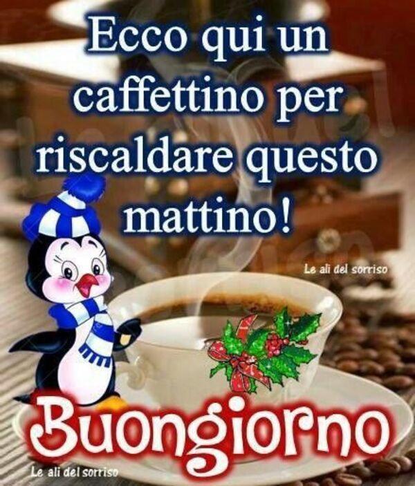 Ecco qui un caffettino per riscaldare questo mattino! - Buongiorno Natale